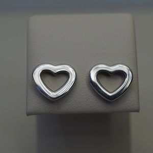 Sterling Tiffany Paloma Picasso heart earrings